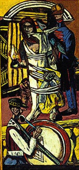 Max Beckmann: Triptychon Die Abfahrt. 1932/1933. Rechter Flügel