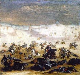 Jan Brueghel d.Ä.: Schlachtszene in Winterlandschaft