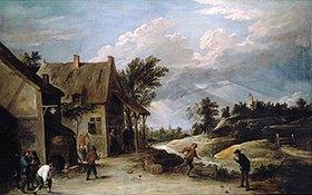 David Teniers: Kegelspiel vor der Schänke