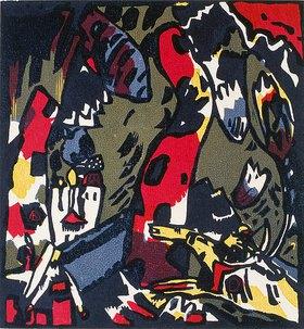 Wassily Kandinsky: Reiter in Landschaft (Bogenschütze)