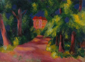 August Macke: Rotes Haus am Park