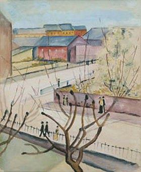 August Macke: Blick auf unsere Strasse im Frühling