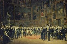 François-Joseph Heim: Karl X. bei der Preisverleihung an die Künstler des Salon von 1824 am