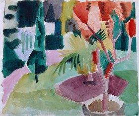 August Macke: Unser Garten am See II