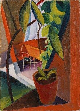August Macke: Blick ins Gartenhaus