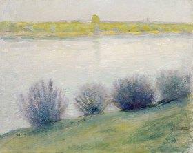 August Macke: Am Rhein bei Hersel. 1908.
