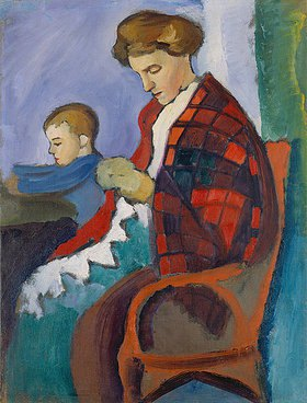 August Macke: Anni und Walter. 1912.