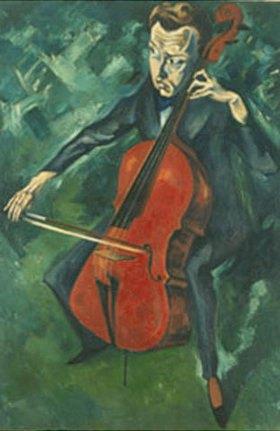 Heinrich Nauen: Der Cellospieler Polly Heckmann