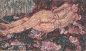 Christian Rohlfs: Liegender Rückenakt