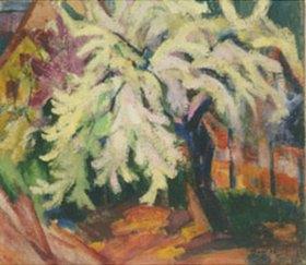 Hans Thuar: Blühender Birnba