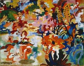 August Macke: Farbige Komposition II. (großer Blumenteppich)