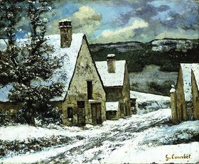 Gustave Courbet: Dorfausgang im Winter