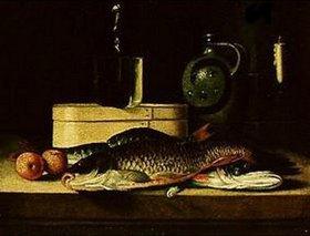 Sebastian Stosskopf: Stilleben mit Fischen