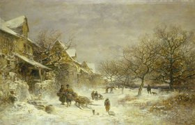 Anton Burger: Winterlandschaft