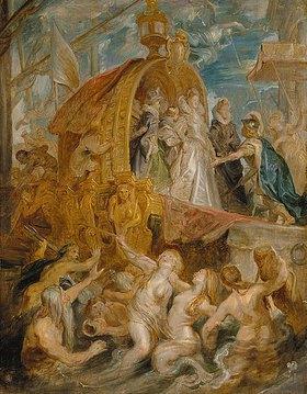 Peter Paul Rubens: Die Landung der Maria de' Medici in Marseille 3.11.1600. Skizze zum Medici-Zyklus