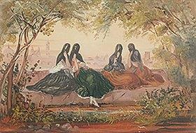 Johann Moritz Rugendas: Junge Mexikanerinnen mit Schleier. (Anfang 1830-er Jahre)