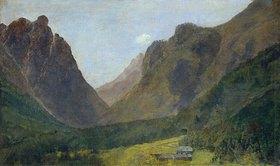 Louis Eysen: Blick vom Toblacher See zum Eingang des Höllensteintals (Ampezzo-Tal)