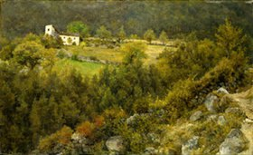 Louis Eysen: Der Strasshof über Mühlbach (oder: Weisses Haus am Hang)