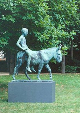 August Gaul: Eselreiter
