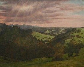 Karl Haider: Blick über die Berge. 1899.