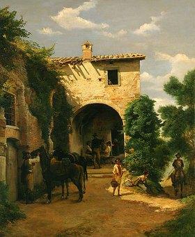 Johann Heinrich Hasselhorst: Porta Pinciana. Italienisches Albergo