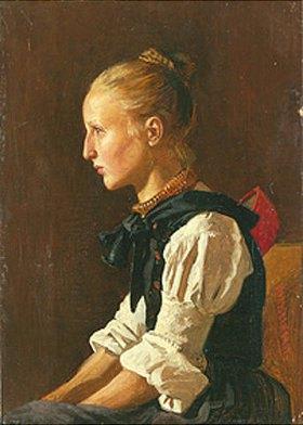 Johann Heinrich Hasselhorst: Ein Schwälmer Bauernmädchen