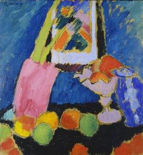 Alexej von Jawlensky: Apfelstillleben mit violetter Schale