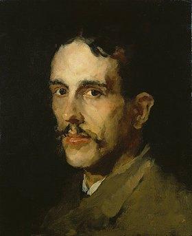 Wilhelm Leibl: Bildnis des Malers Louis Evsen