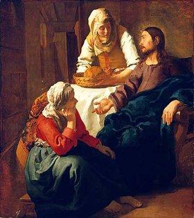Jan Vermeer van Delft: Christus im Hause von Martha und Maria