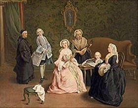 Pietro Longhi: Hausmusik in einer venezianischen Familie