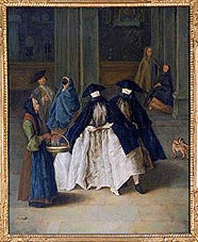 Pietro Longhi: Die Parfüm-Verkäuferin in Venedig