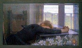 Emilio Longoni: Am Tisch eingeschlafen