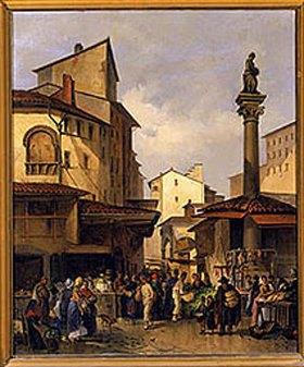 Giuseppe Moricci: Alter Marktplatz in Florenz