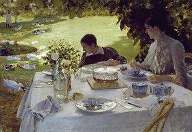 Giuseppe de Nittis: Frühstück im Garten