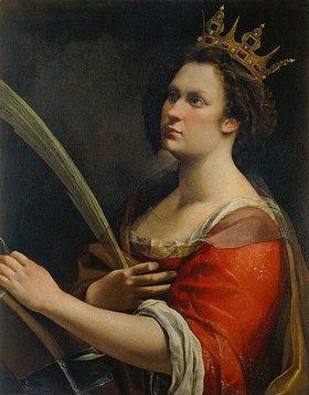 Artemisia Gentileschi: Die Hl. Katharina mit dem Rad