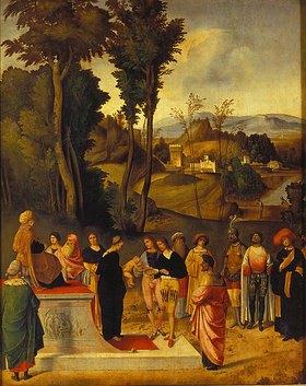 Giorgione (G.da Castelfranco): Die Prüfung des Mose