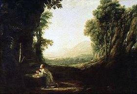 Claude Lorrain (Gellée): Büßende heilige Magdalena in einer Landschaft