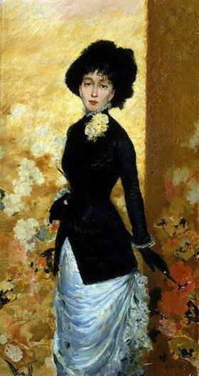 Giuseppe de Nittis: Bildnis einer Dame