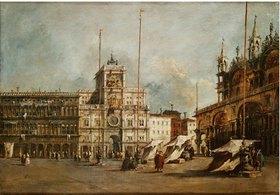 Francesco Guardi: Die Piazza San Marco in Venedig mit dem Uhrturm