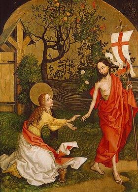 Martin Schongauer: Noli me tangere. 1462/1465. Altartafel der Dominikanerkirche