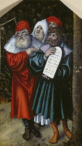 Lucas Cranach d.Ä.: Moses und Aaron mit zwei Propheten