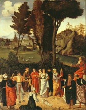Giorgione (G.da Castelfranco): Das Urteil des Salomo