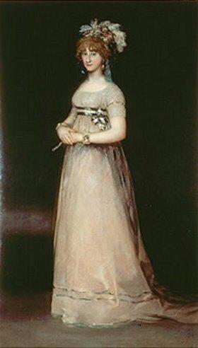 Francisco José de Goya: Bildnis der Komtesse de Chinchon, stehend