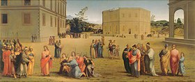 Francesco Granacci: Josef präsentiert dem Pharao seinen Vater und seine Brüder