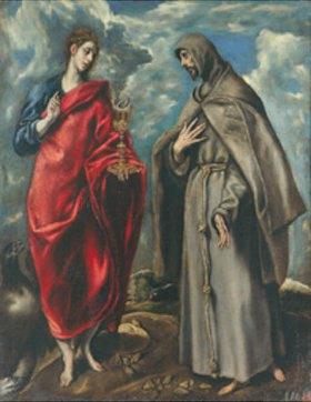 Greco El (Dominikos Theotokopoulos): Die Hll. Johannes Ev. Und Franzikus