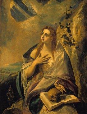 Greco El (Dom.Theotokopoulos): Die büßende Magdalena