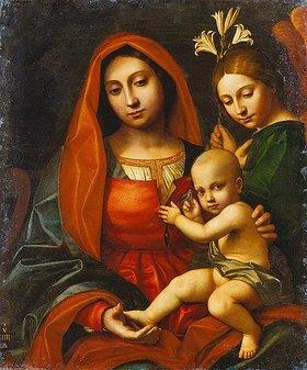 Paolo Moranda Cavazzola: Madonna mit Kind und einem Engel