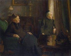 Istvan Réti: Alte Frauen (Interieur)