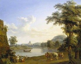 Jacob Philipp Hackert: Blick auf St. Peter in Rom