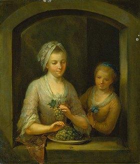 Johann Andreas Herrlein: Frau und Mädchen am Fenster